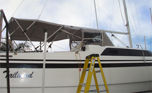 MacGregor 26 sports a custom dodger designed and installed